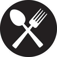 ícone de garfo e colher vetor
