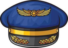 chapéu de pilotos de avião vetor