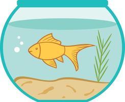 peixinho dourado em uma tigela vetor