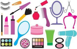 coleção de maquiagem vetor