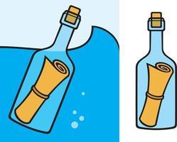 massagem na garrafa vetor