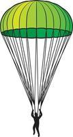 desenho de ícone de paraquedas vetor
