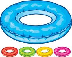 tubo redondo de piscina vetor