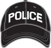boné de beisebol da polícia vetor