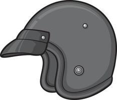 capacete de motocicleta retro vetor