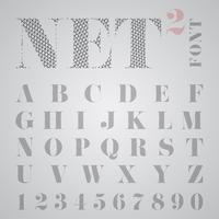 NET alfabeto, vetor