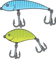 wobbler de pesca ou isca vetor