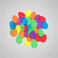 Ilustração colorida para a Páscoa, vetor