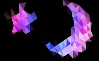 pano de fundo abstrato do polígono do vetor rosa claro, azul.