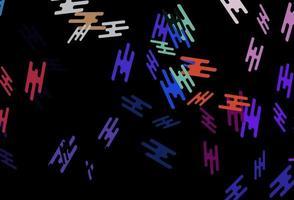 modelo de vetor de arco-íris multicolorido escuro com varas repetidas.