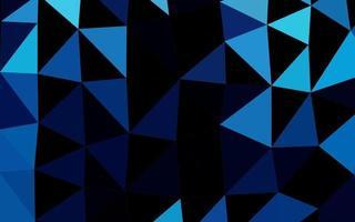 textura do mosaico do triângulo do vetor azul claro.