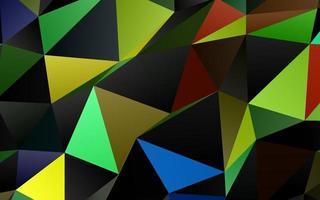 fundo abstrato do polígono do vetor azul escuro e amarelo.