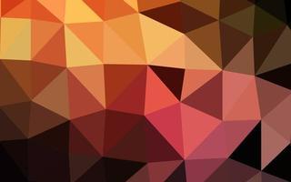 layout de baixo poli de vetor laranja escuro.