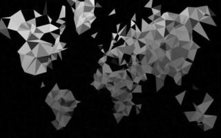prata clara, fundo poligonal do vetor cinza.