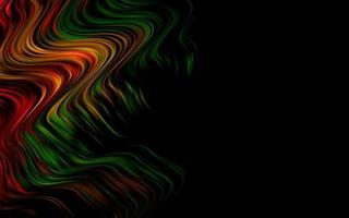 fundo multicolor escuro do vetor do arco-íris com círculos curvos.