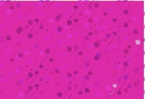pano de fundo rosa claro, azul do doodle do vetor. vetor