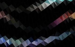 luz multicolor, layout abstrato de polígono de vetor de arco-íris.