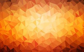 textura de mosaico de triângulo de vetor laranja escuro.