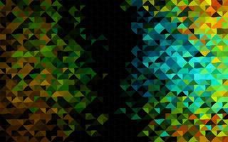 modelo de vetor preto escuro com cristais, triângulos.