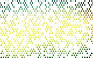 layout de vetor verde escuro e amarelo com formas hexagonais.
