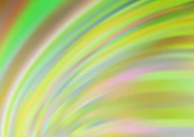 modelo de vetor verde e amarelo claro com linhas ovais.