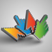 Cursores coloridos de vetor