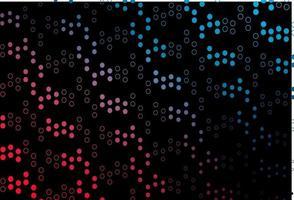 layout de vetor azul escuro e vermelho com formas de círculo.
