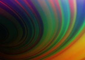 multicolor escuro, vetor de arco-íris turva o fundo brilhante.