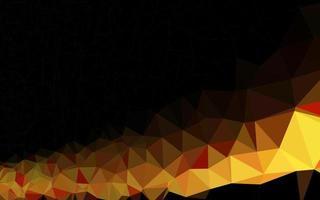 pano de fundo do mosaico abstrato do vetor laranja claro.