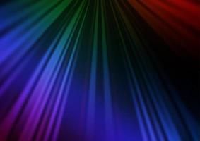 fundo escuro multicolorido do vetor do arco-íris com linhas retas.