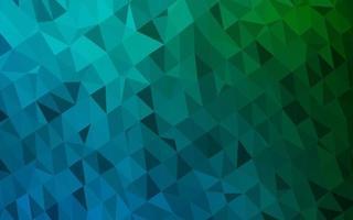 textura de baixo poli de vetor azul escuro e verde.