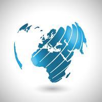 Ilustração abstrata do mundo, vetor