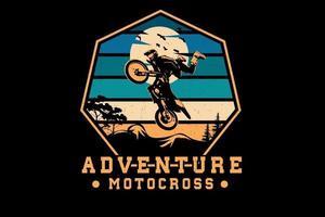 design de silhueta de motocross de aventura vetor