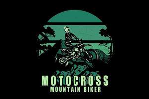 design de silhueta de motocross mountain bike vetor