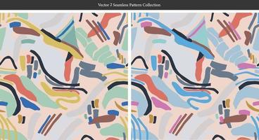 Vector pintura moderna pincel formas ilustração padrão sem emenda