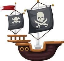 um navio pirata vetor