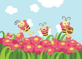 abelhas procurando vetor de alimentos
