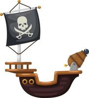 vetor de navio pirata