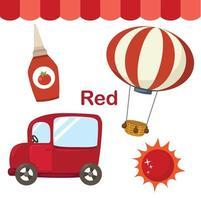ilustração do grupo de cor vermelha isolada vetor