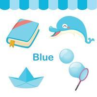 ilustração de grupo isolado de cor azul vetor