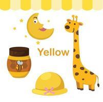 ilustração do grupo de cor amarela isolada vetor