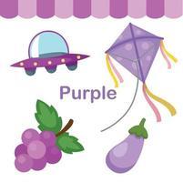 ilustração do grupo isolado de cor roxa vetor