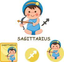 coleção de vetores de Sagitário. signos do zodíaco