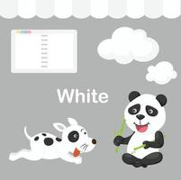 ilustração de grupo isolado de cor branca vetor