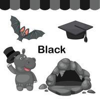ilustração de grupo isolado de cor preta vetor