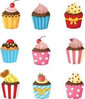vetor de conjunto de cupcake