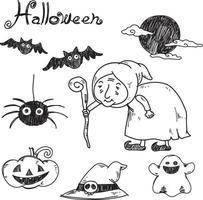 vetor de halloween desenhado à mão