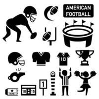 ilustração isolada do ícone do futebol americano vetor