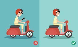 sem mensagens de texto, sem falar, caminhos certos e errados andando vetor