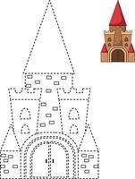 ilustração de jogo educativo para crianças e elenco de livro para colorir vetor